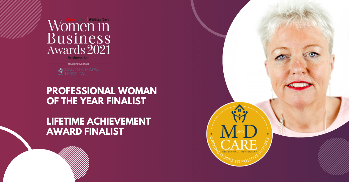 Michelle Martin Finalist at the Wales Women in Business Awards 2021