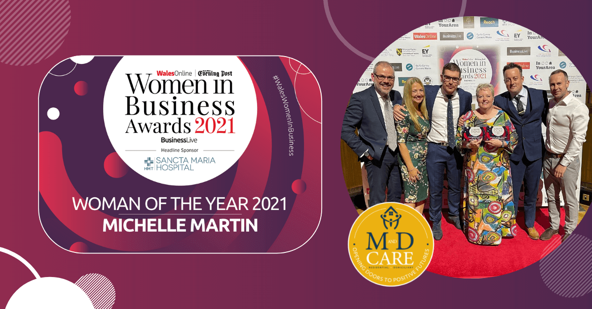 Michelle Martin Winner of Wales Women in Business Awards 2021